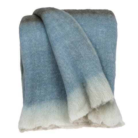 """Parkland Collection Larco Transitional Multi 52"""" x 67"""" Woven Handloom Throw"""