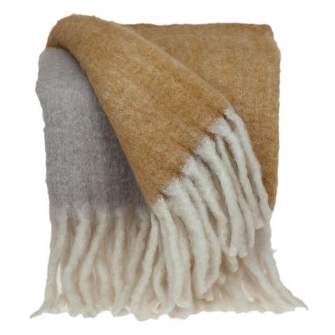 """Parkland Collection Mohra Transitional Multi 52"""" x 67"""" Woven Handloom Throw"""