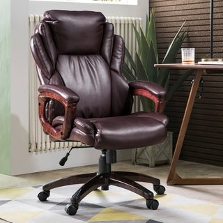 Ovios Executive Office Chair,High Back Desk Chair,Leather Computer Desk Chair for Home Office