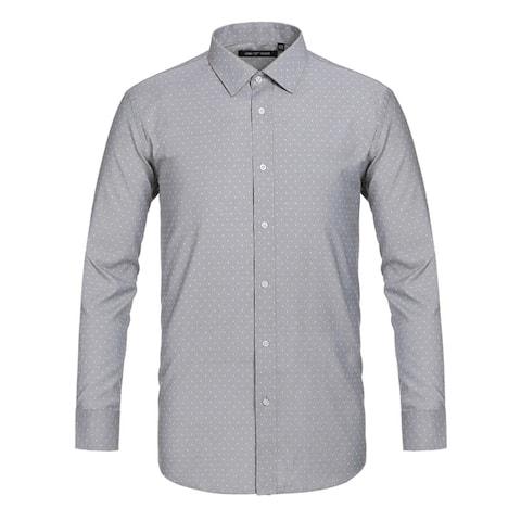 Men's Classic Fit Polka Dot Dress Shirt