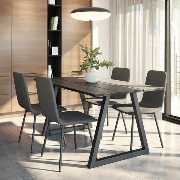 Torino Table and 4 Braga Chairs Dining Set