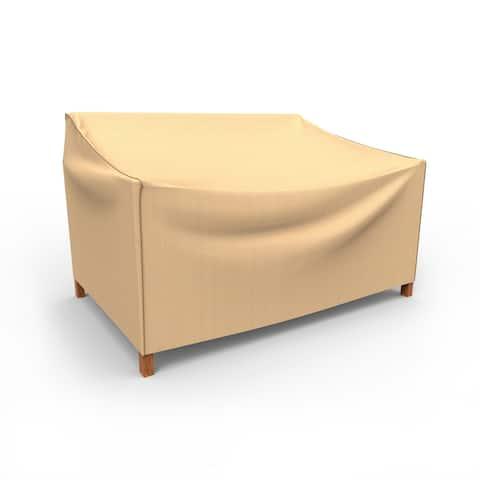 Budge Waterproof Outdoor Patio Loveseat Cover, NeverWet® Savanna, Tan, Multiple Sizes