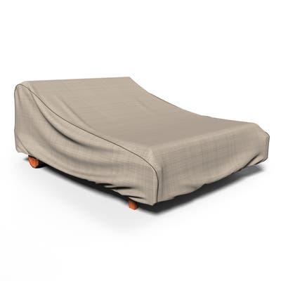 Budge Waterproof Outdoor Patio Chaise Lounge Cover, NeverWet® Mojave, Black Ivory, Multiple Sizes