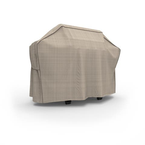 Budge Heavy Duty Waterproof Outdoor BBQ Grill Cover, English Garden, Tan Tweed, Multiple Sizes