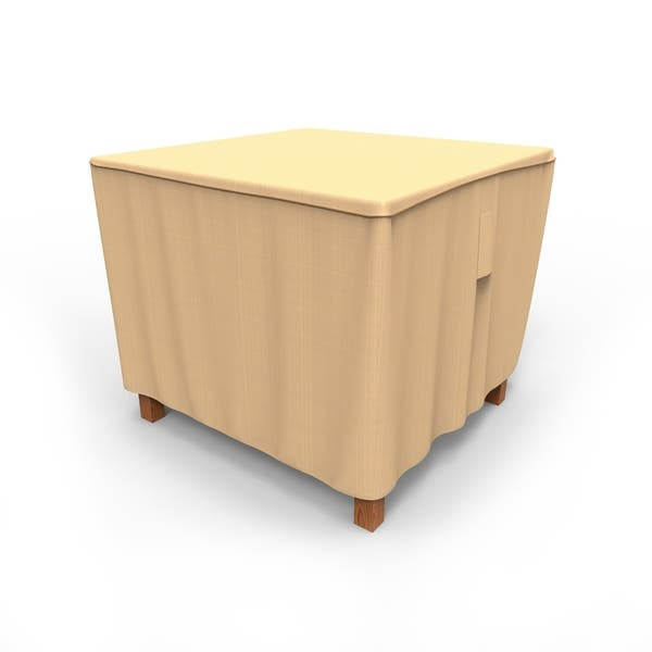 Budge Waterproof Outdoor Square Patio Table Cover Sedona Tan Multiple Sizes Overstock 30236237