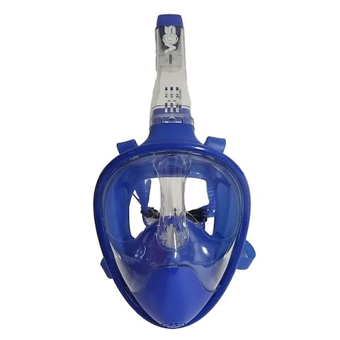 Vos Ultimate Full Face Snorkel Mask Safety Anti-Leak Anti-Fog Breathing System with Action Camera Mount (Small/Medium)