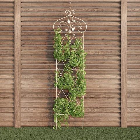 Laudery 63-inch Decorative Lattice Garden Trellis by Havenside Home