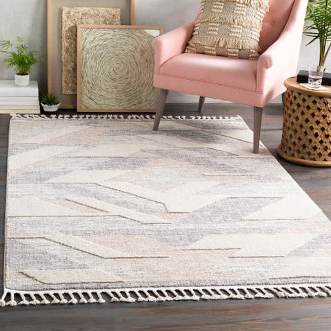 Kenzi Textured Geometric Area Rug