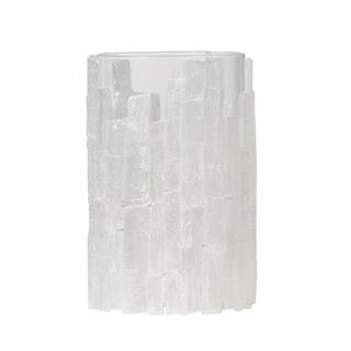 White 8-inch Crystal-like Selenite Lantern