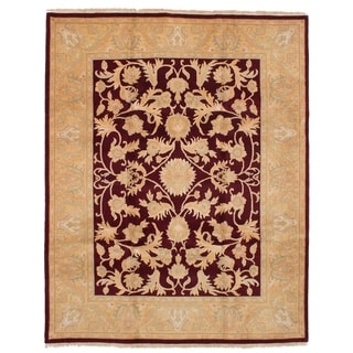 Hand-knotted Royal Safaviah Red Wool Rug - 8'1 x 10'2