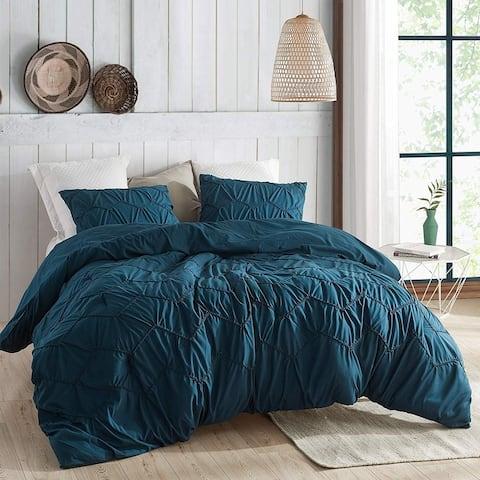 Textured Waves Comforter - Supersoft Nightfall Navy