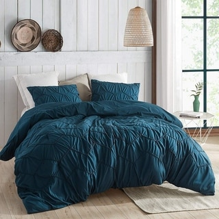 Link to Textured Waves Comforter - Supersoft Nightfall Navy Similar Items in Comforter Sets