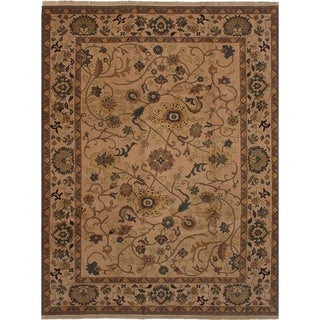 Hand-knotted Royal Safaviah Beige Wool Rug - 9'0 x 12'0