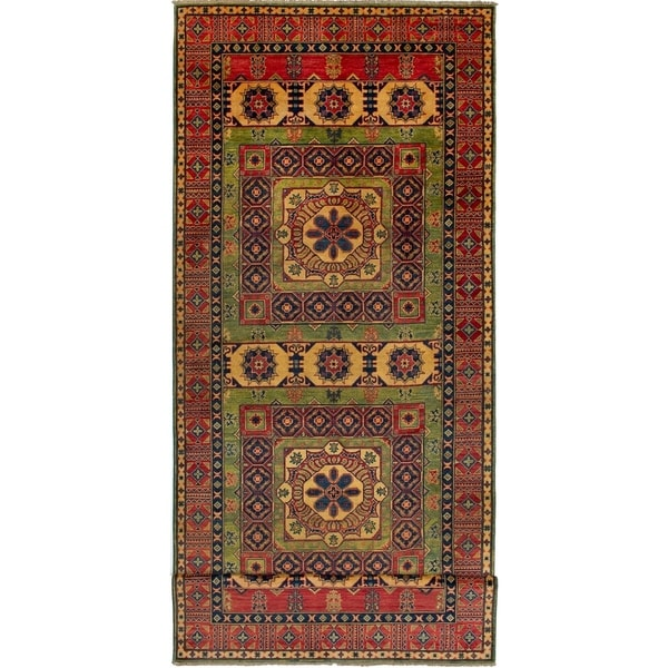 Hand-knotted Finest Gazni Copper Wool Rug. Opens flyout.