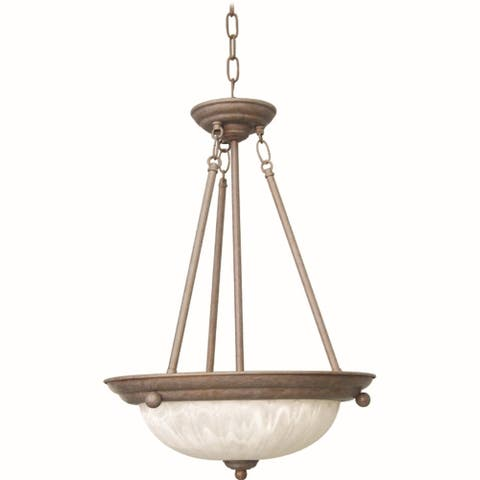 Volume Lighting Marti 3-Light Prairie Rock Hanging Pendant