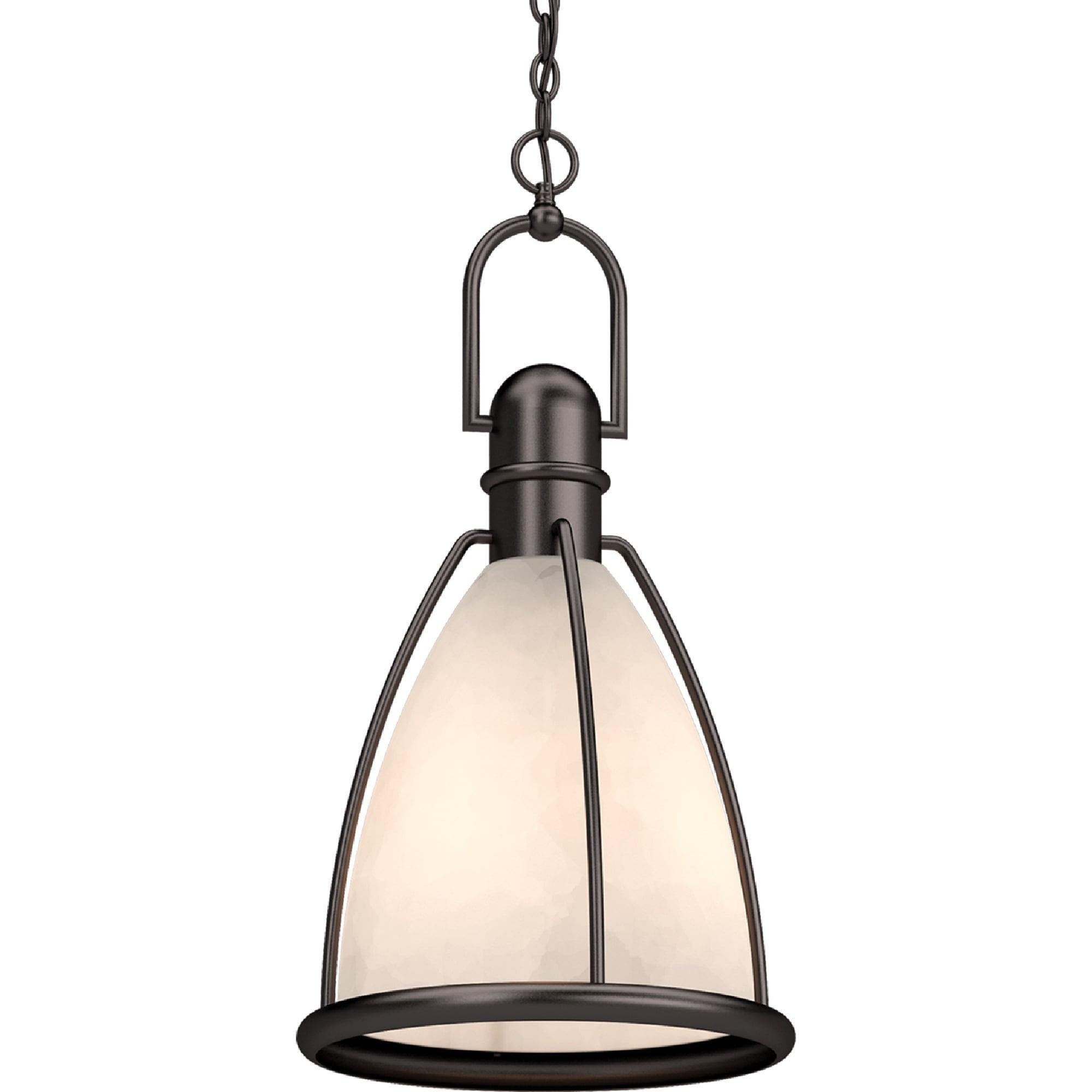 Image of: Shop Volume Lighting 1 Light Indoor Antique Bronze Lantern Hanging Pendant Overstock 30237252
