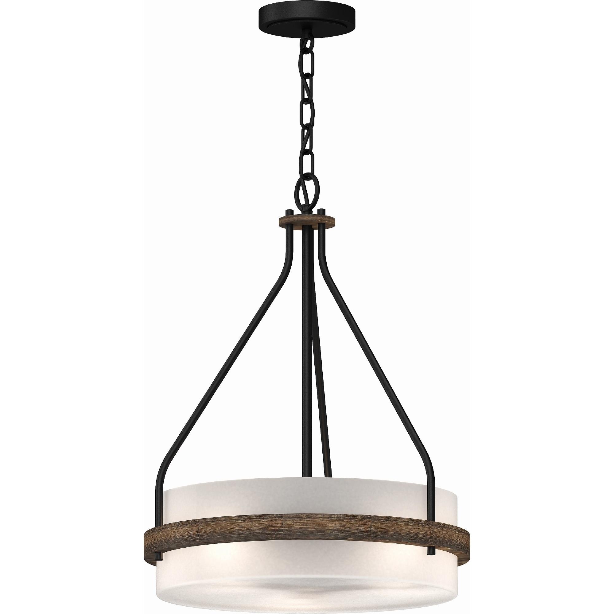 Volume Lighting Emery 3 Light Walnut Black Mini Hanging Chandelier Walnut Black Overstock 30237280