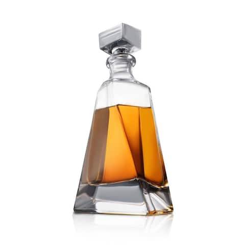 JoyJolt Atlas Non-Leaded Crystal 22-Oz Whiskey Decanter with Stopper