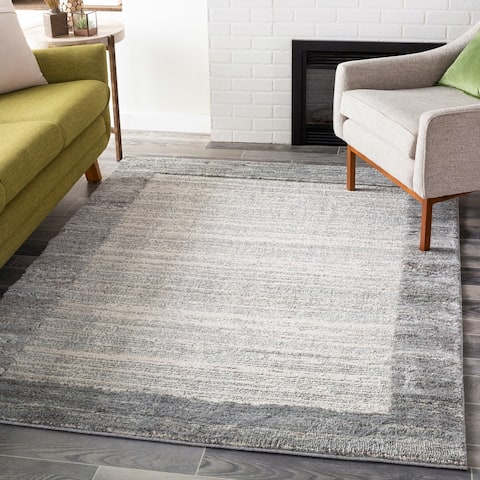 Shay Heathered Border Area Rug