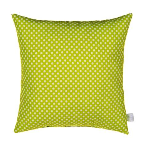 Cherry Blossom Pillow-Green Dot
