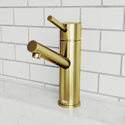 Noma Single Hole Bathroom Faucet In Matte Brushed Gold