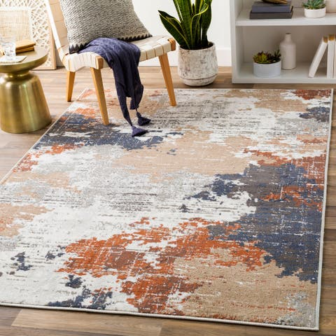 Barbara Abstract Industrial Area Rug