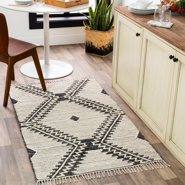 Beto Handmade Geometric Nomad Cotton Area Rug