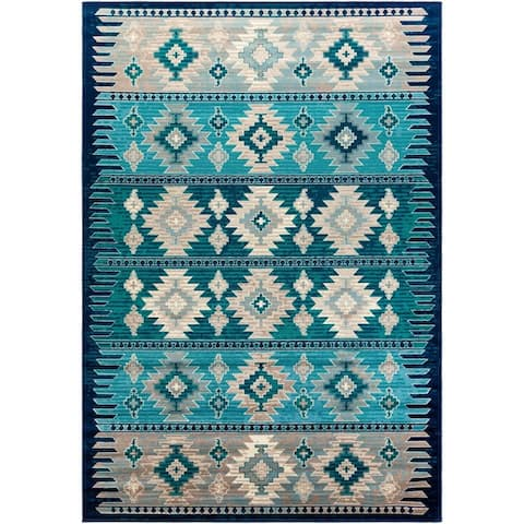 Porch & Den Pag Southwestern Diamond Area Rug