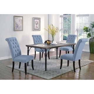 Best Master Furniture Manhattan 5 Pieces Sea Blue Dining Set