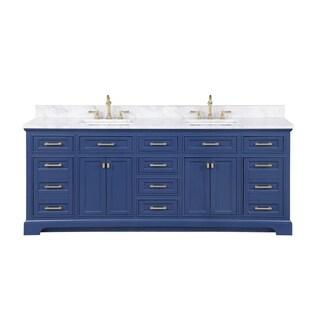 "Milano 84"" Double Vanity in Blue"
