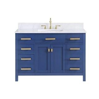 """Valentino 48"""" Single Vanity in Blue"""