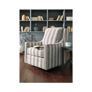 Link to Kambria Swivel Glider Accent Chair - Casual - Striped Ivory/Black Similar Items in Accent Chairs