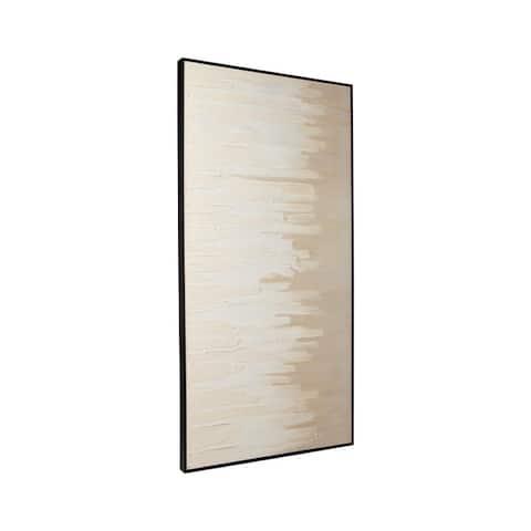 Jennaya Casual Tan/White Gradient Framed Wall Art