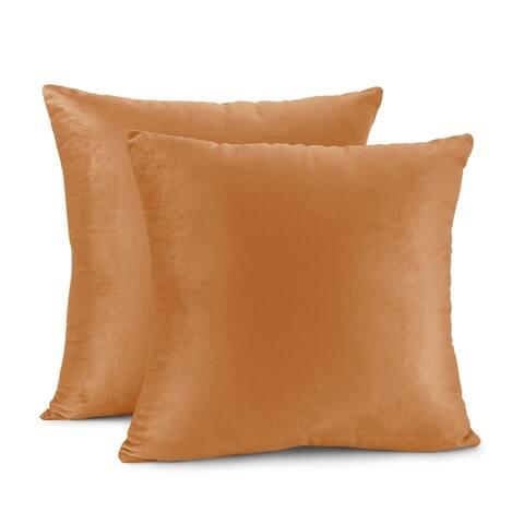 Porch & Den Cosner Solid Color Microfiber Velvet Throw Pillow Cover