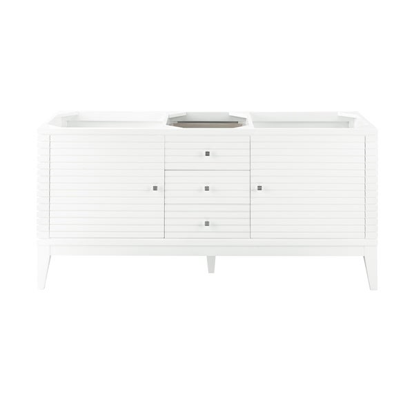 """Linear 59"""" Double Vanity, Glossy White"""