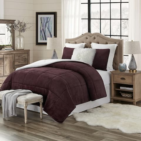 Copper Grove Guanipa Plush Comforter Set (Reverses to Sherpa)