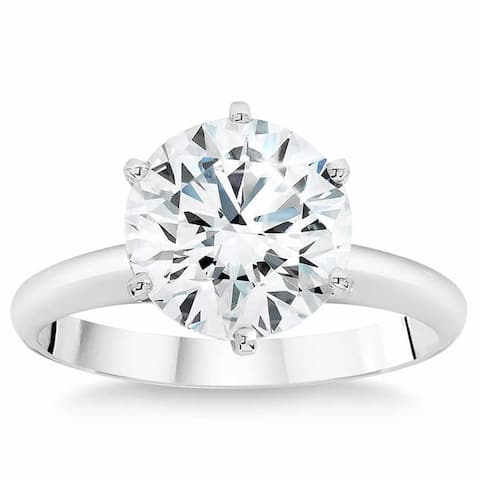 2.50 Ct Diamond Solitaire Engagement Ring IGI Certified Lab Grown SZ 7