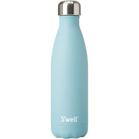 S'well AQST-17-A17 Vacuum Stainless Steel Bottle, 17 oz, Aquamarine