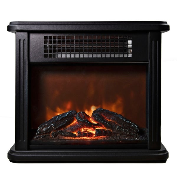 2388 BTU Portable Mini Fireplace Electric Heater Furnace with Realistic 3D Flame and Ember Bed