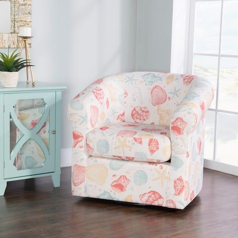Cian Swivel Seashell Accent Club Chair