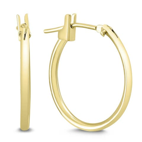 16MM Hoop Earrings in 14K Yellow Gold