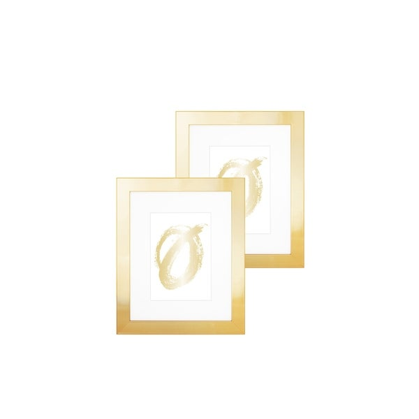 """Parkwood- Flat Basic Frame- Set of 2, 5""""x 7"""" Yellow Gold"""