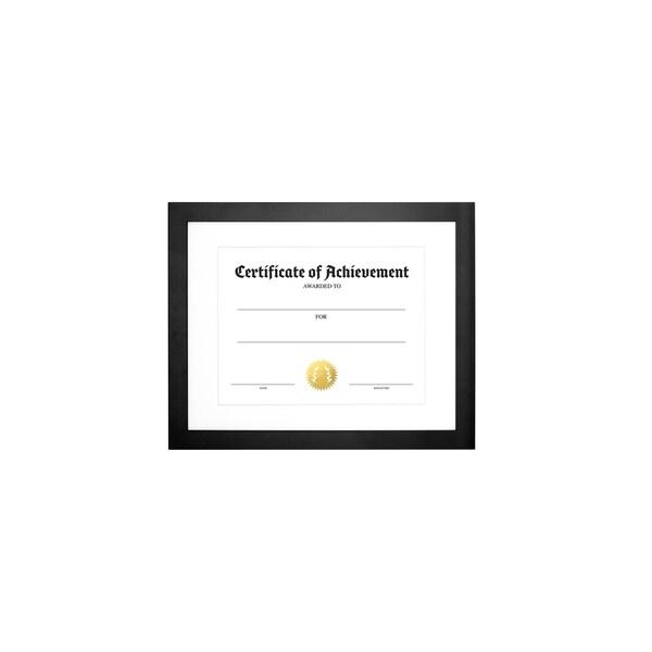 "Parkwood- Legal Document Size, White Mat 8.5"" x 11"" Black"