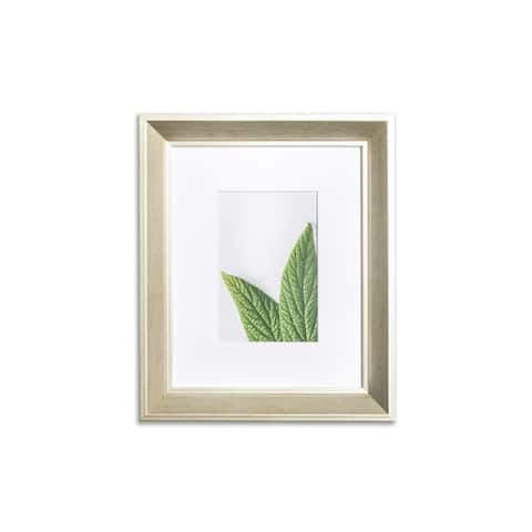 """VISTA Daintree 8""""x 10"""" Picture Frame, Wide Bevel in GOLD WASH, Wide Mat w 4""""x 6"""" Opening"""