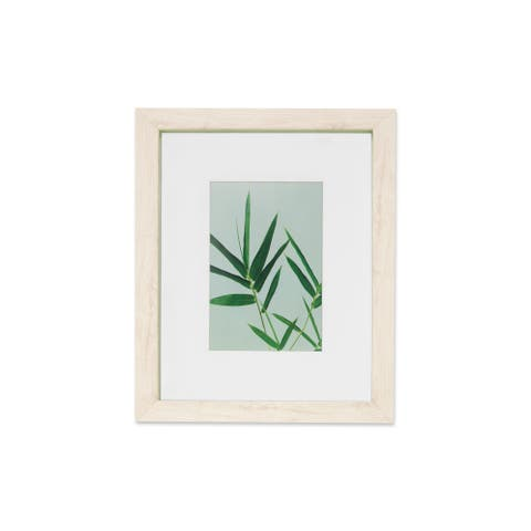 """VISTA Monteverde 16""""x 20"""" Picture Frame, Light Wood Finish w GREEN Outter Edge, Wide Mat w 8""""x 10"""" Opening"""