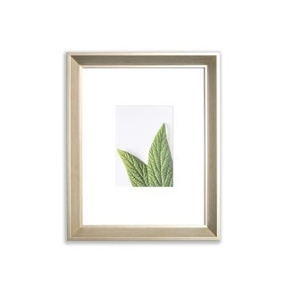 """VISTA Daintree 11""""x 14"""" Picture Frame, Wide Bevel in GOLD WASH, Wide Mat w 8""""x 10"""" Opening"""
