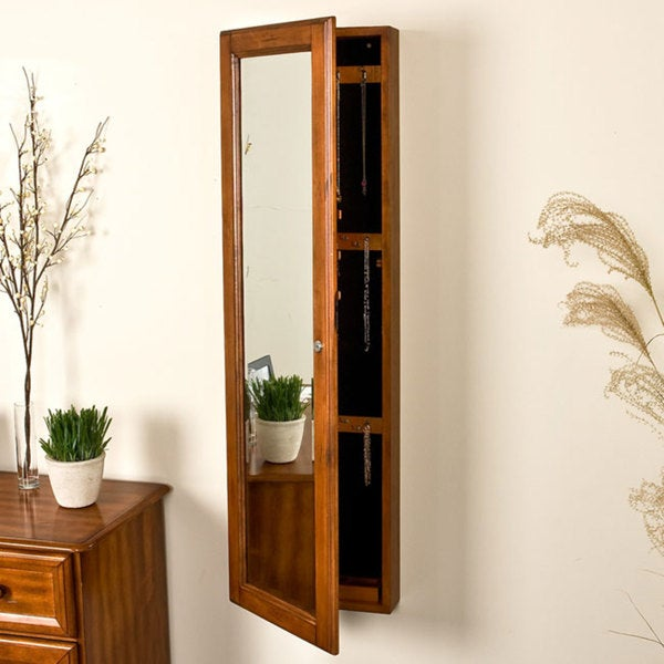 Harper Blvd Carson Oak Jewelry Armoire