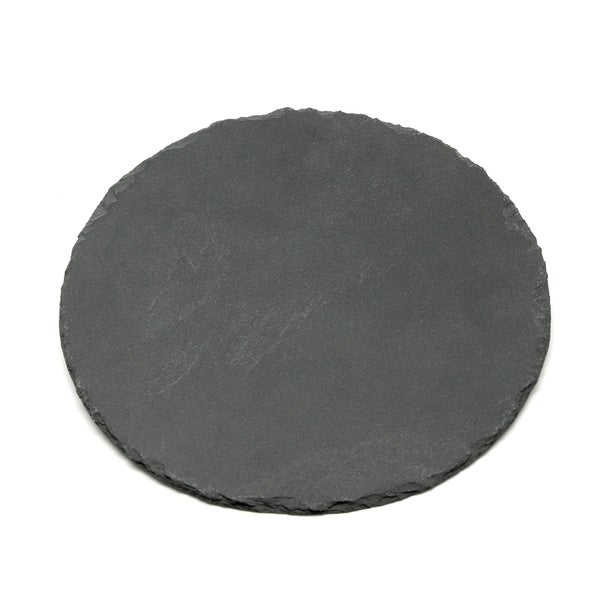 "Creative Home Genuine Slate 12"" Lazy Susan, Rotating Serving Board"