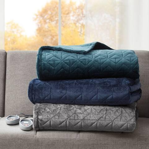 Beautyrest Pinsonic Microlight Heated Quilt