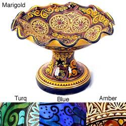 Handmade Elegant Marjorelle Ceramic Fruitier (Morocco)